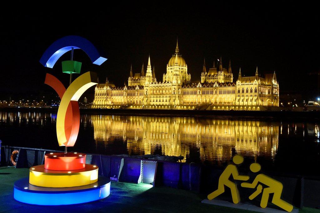 Olimpia 2024 - A budapesti pályázat emblémája